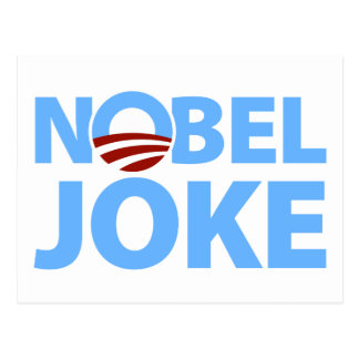 Barack Obama: Nobel Joke Postcard