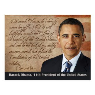 Barack Obama, Oath of Office Postcard