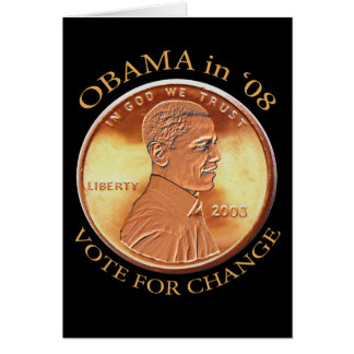 Barack Obama Penny Card