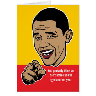 Barack Obama Personalized Card