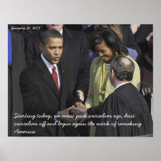 Barack Obama Pick Ourselves Up Poster
