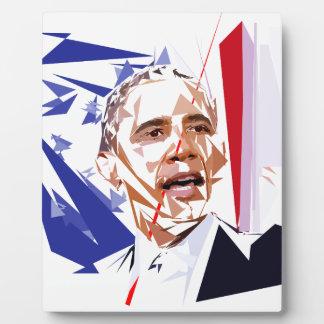 Barack Obama Plaque