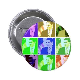 Barack Obama Pop Art Pinback Buttons