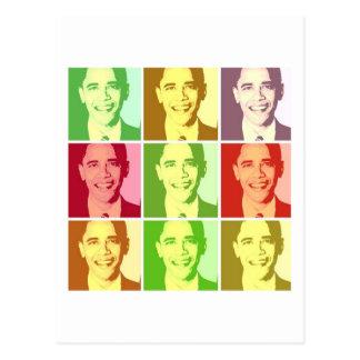 Barack Obama Pop Art Postcard