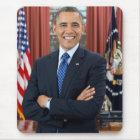 Barack Obama portrait Mouse Pad