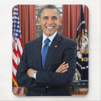Barack Obama portrait Mouse Pad