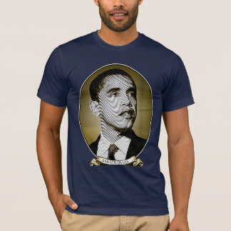 Barack Obama - Portrait of A President Intaglio T-Shirt