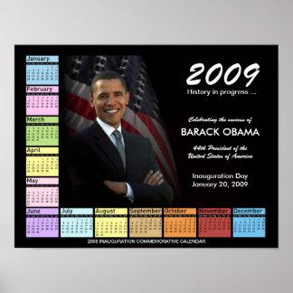 Barack Obama Poster with 2009 Calendar