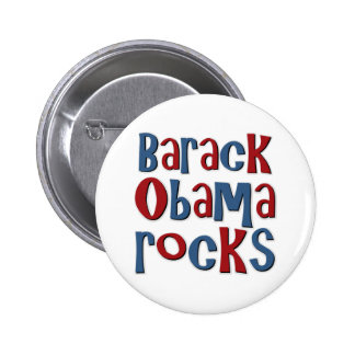 Barack Obama Rocks Pinback Buttons