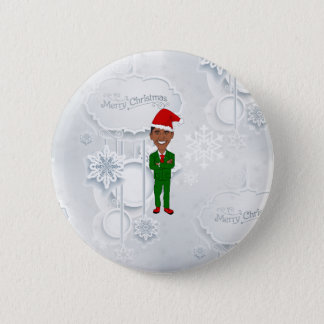 barack obama santa 2 inch round button