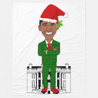 barack obama santa claus blanket