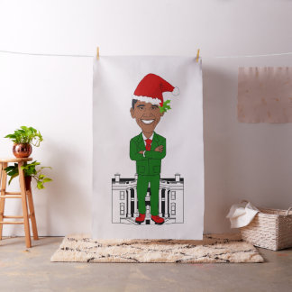 barack obama santa claus fabric