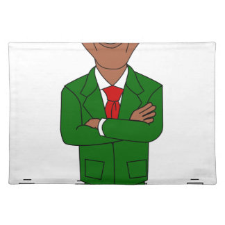 barack obama santa claus placemat