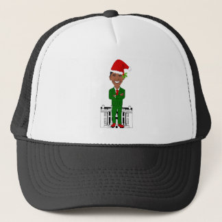barack obama santa claus trucker hat