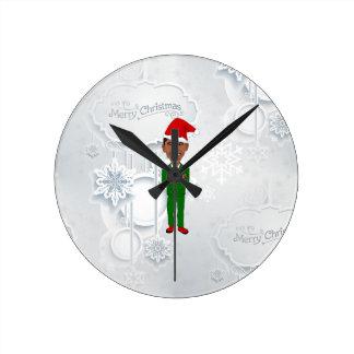 barack obama santa round clock