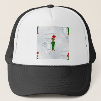 barack obama santa trucker hat