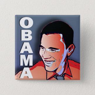 Barack Obama Silver 2 Inch Square Button