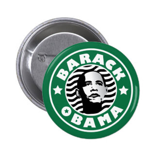 Barack Obama Star Caffeine 2 Inch Round Button