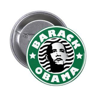 Barack Obama Star Caffeine 2 Inch Round Button