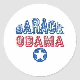 Barack Obama Star Classic Round Sticker