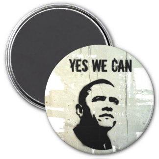 Barack Obama. Stencil bckgnd concrt magnet