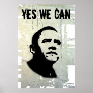 Barack Obama. Stencil concrt Poster