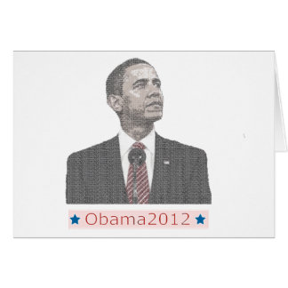 Barack Obama Text Portrait 2012 Card