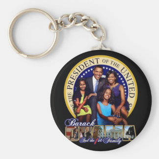 BARACK OBAMA The first family Keychain