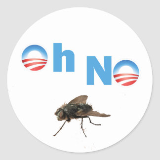 Barack Obama the Fly Killer Round Sticker