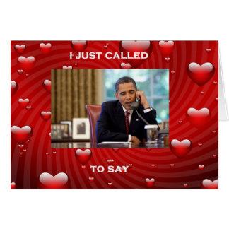 Barack Obama Valentine's Day Card