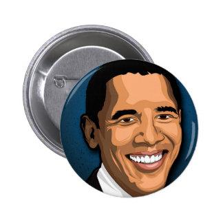 Barack Obama Vector Portrait 2 Inch Round Button