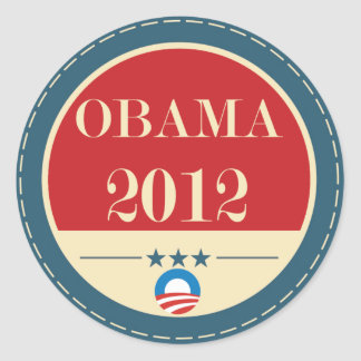 Barack Obama Vote 2012 Classic Round Sticker