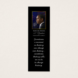 Barack Obama with JFK - Bookmarker Mini Business Card