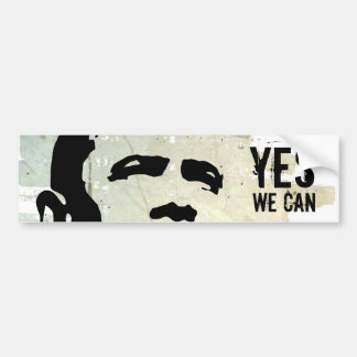 Barack Obama: YES WE CAN concrete wall sticker