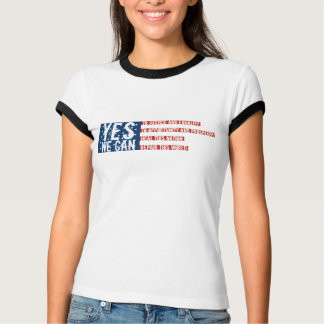 Barack Obama: YES WE CAN flag v2 T-Shirt