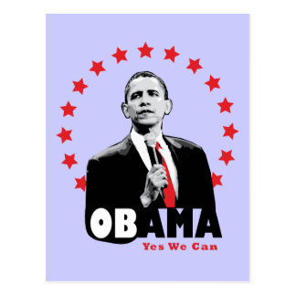 Barack Obama - Yes We Can Postcard
