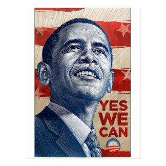 Barack Obama Yes We Can Postcard