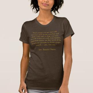 "Barack Obama ""Yes We Can"" Speech T Shirts"