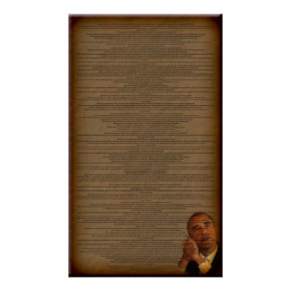 Barack Obama's Acceptance Speech Poster