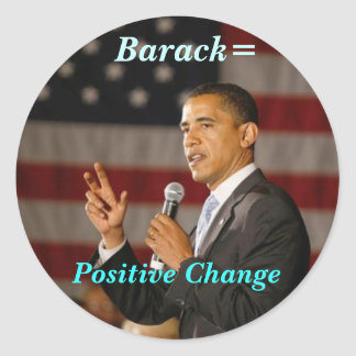 Barack = Positive Change sticker