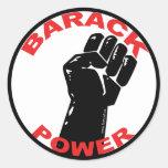 BARACK POWER CLASSIC ROUND STICKER
