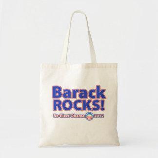 Barack ROCKS! Re-elect Obama 2012 Budget Tote Bag