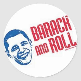 Barack & Roll Classic Round Sticker
