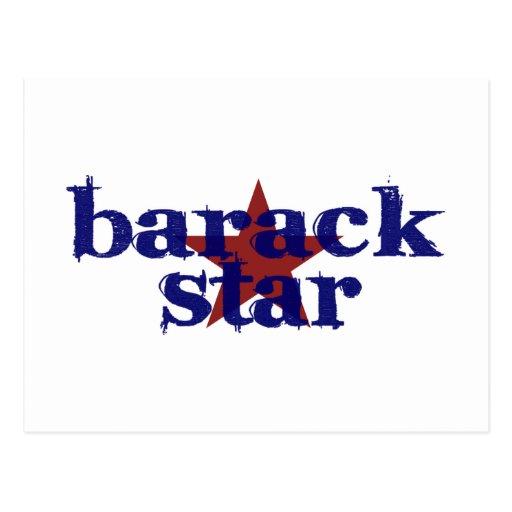 Barack Star Postcard