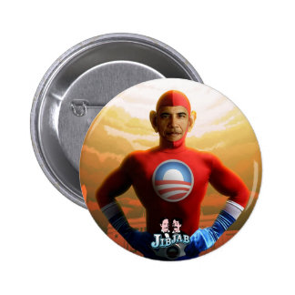 Barack Superhero 2 Inch Round Button