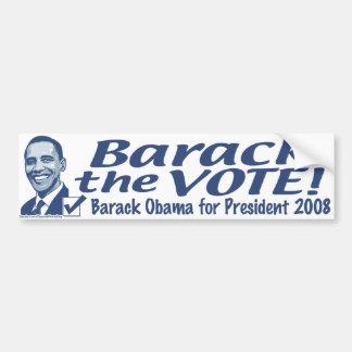 Barack The Vote Bumper Sticker