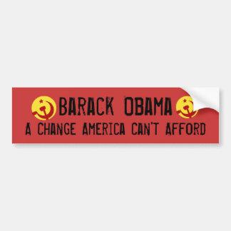 BarackObamaschange, BarackObamaschange, Barack ... Bumper Sticker