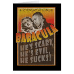 Baracula - Happy Halloween Barack Obama Greeting Card