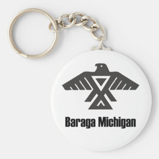 Baraga Michigan Ojibwe Native American Keychain