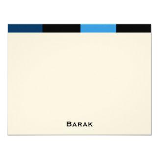 Barak custom thank you felt paper card